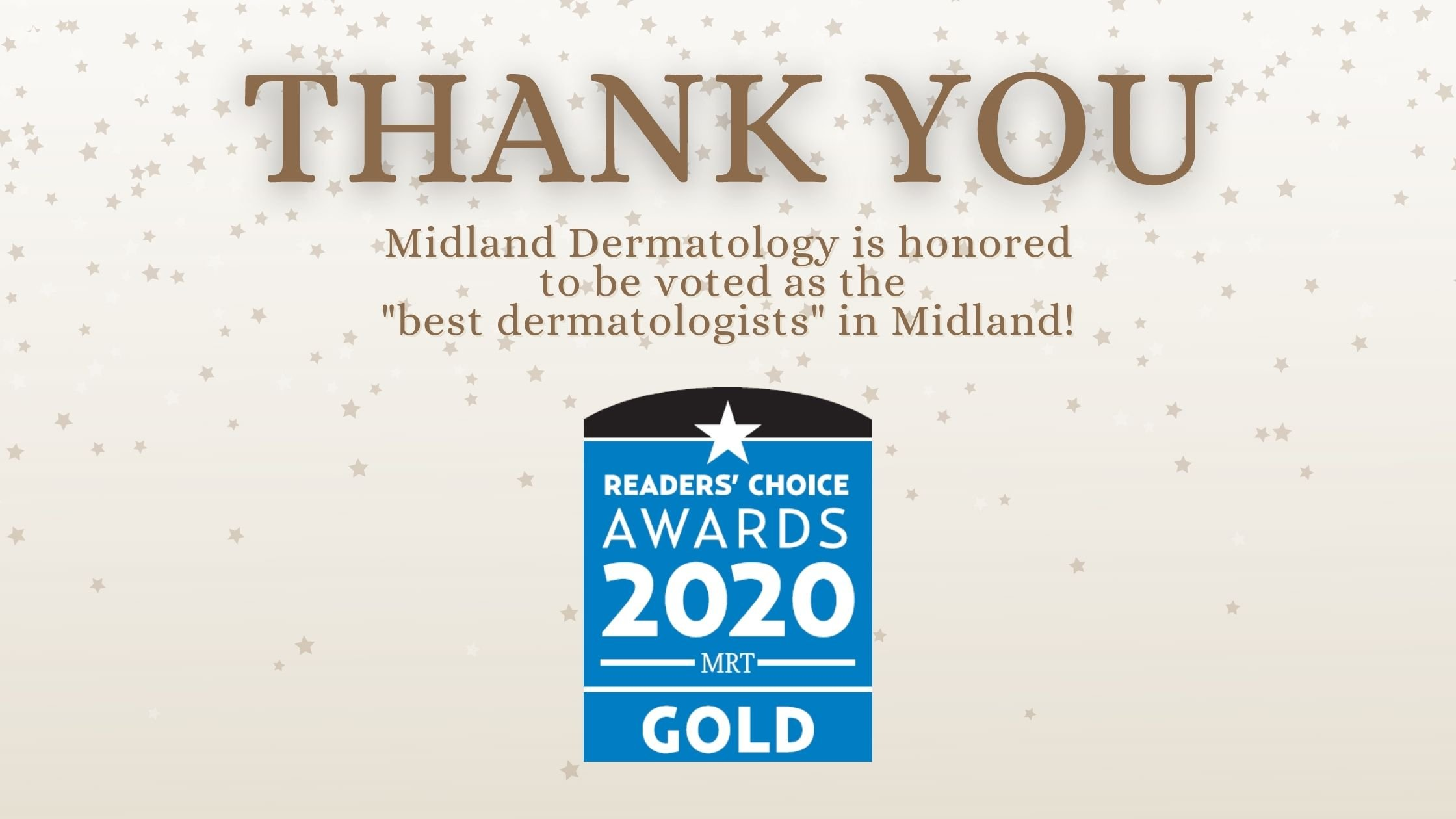 Home Page New Website Reader's Choice Award Midland Dermatology